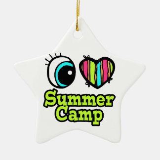 Bright Eye Heart I Love Summer Camp Christmas Ornament