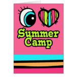 Bright Eye Heart I Love Summer Camp Greeting Card