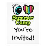 Bright Eye Heart I Love Summer Camp Invites