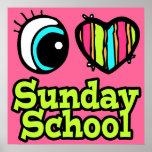 Bright Eye Heart I Love Sunday School Poster