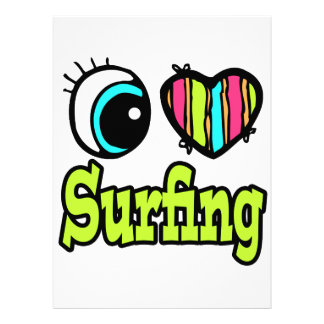Bright Eye Heart I Love Surfing Invites