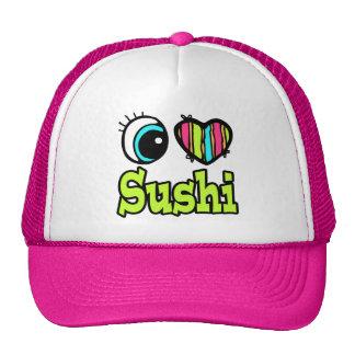 Bright Eye Heart I Love Sushi Hat