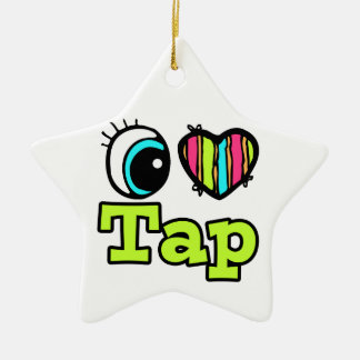 Bright Eye Heart I Love Tap Christmas Ornament