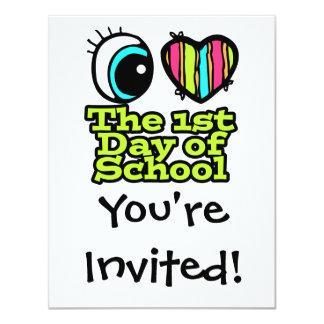 Bright Eye Heart I Love The First Day Of School 11 Cm X 14 Cm Invitation Card