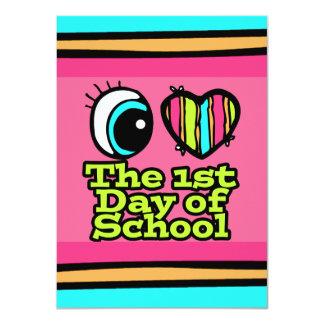 Bright Eye Heart I Love The First Day Of School 11 Cm X 16 Cm Invitation Card