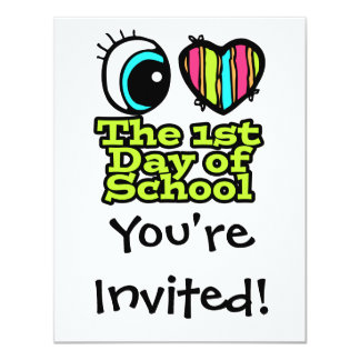 Bright Eye Heart I Love The First Day Of School Personalized Announcements