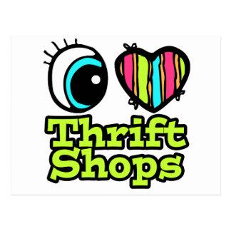 Bright Eye Heart I Love Thrift Shops Postcard
