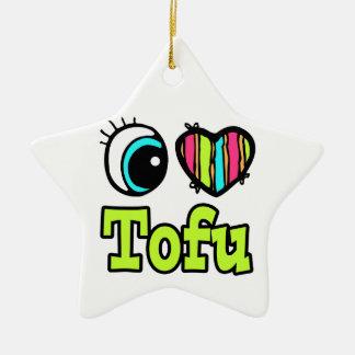 Bright Eye Heart I Love Tofu Christmas Ornament