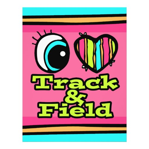 Bright Eye Heart I Love Track and Field Flyer