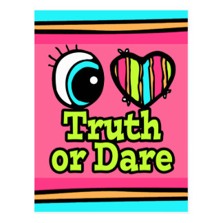 Bright Eye Heart I Love Truth or Dare Postcard