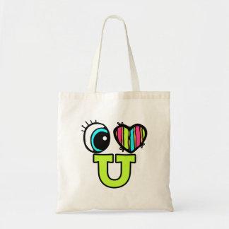 Bright Eye Heart I Love U You Budget Tote Bag