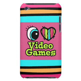 Bright Eye Heart I Love Video Games Barely There iPod Covers