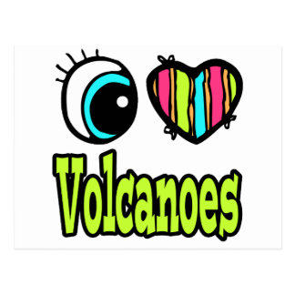 Bright Eye Heart I Love Volcanoes Postcard