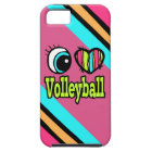 Bright Eye Heart I Love Volleyball iPhone 5 Case