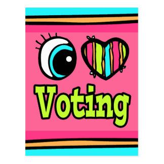 Bright Eye Heart I Love Voting Postcard