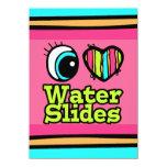 Bright Eye Heart I Love Water Slides 11 Cm X 16 Cm Invitation Card