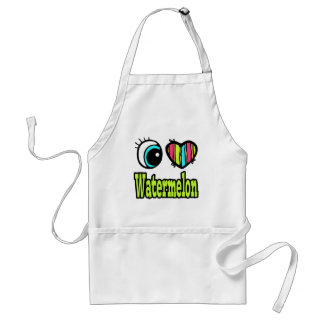 Bright Eye Heart I Love Watermelon Standard Apron