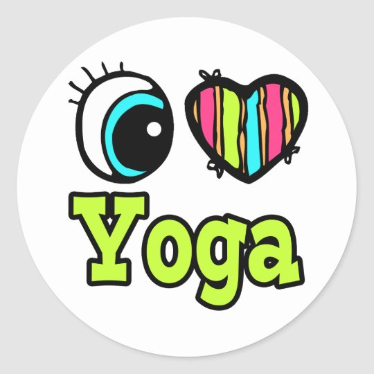 Bright Eye Heart I Love Yoga Classic Round