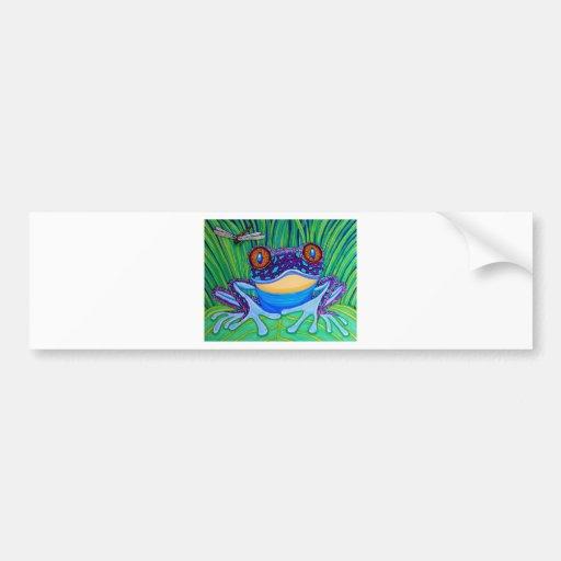 Bright eyed frog bumper sticker