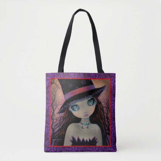 Bright Eyed Witch Big Eye Girl Fantasy Art