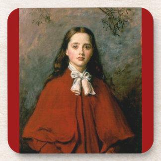 Bright Eyes by Sir John Everett Millais Coaster