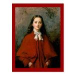 Bright Eyes by Sir John Everett  Millais Postcards