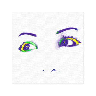 Bright eyes stretched canvas print