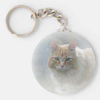 Bright Eyes Cat keychain...© Angel Honey, 2010 Basic Round Button Key Ring