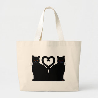 Bright Eyes Heart Large Tote Bag