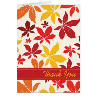 Bright Fall Leaves Bridesmaid Thank You Card