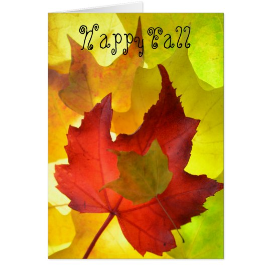 Bright fall Note Card