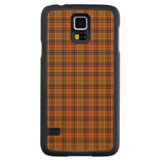 Bright Fall Plaid Maple Galaxy S5 Case