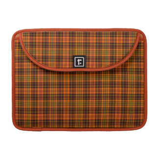 Bright Fall Plaid Sleeves For MacBook Pro