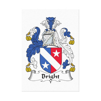 Bright Family Crest Canvas Prints
