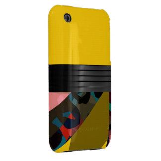 Bright Fancy Yellow Rainbow Cheetah iPhone 3 Case-Mate Case