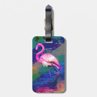 Bright Flamingo Luggage Tag