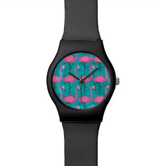 Bright Flamingo Pattern Watch