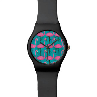 Bright Flamingo Pattern Watches