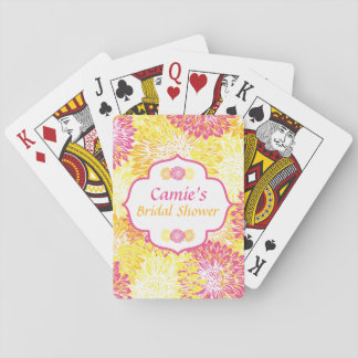 Bright Floral Bridal Shower Playing Cards