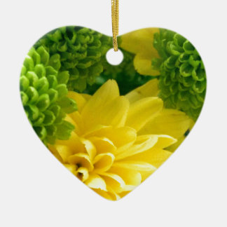 Bright floral christmas ornament