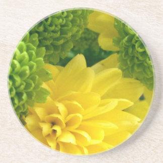 Bright floral coaster
