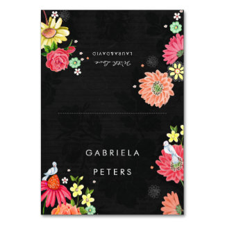 Bright Floral   Guest name settings   Tablecard Table Card