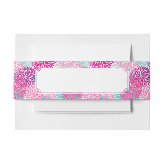 Bright Floral pattern 2 Invitation Belly Band
