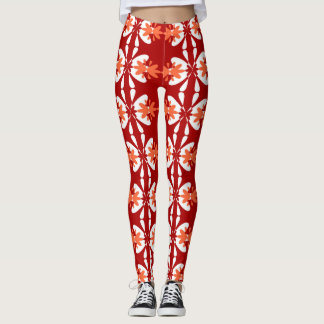 Bright Floral Pattern 2 Leggings