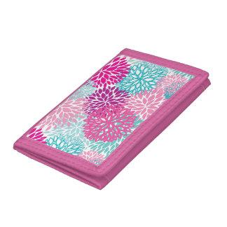 Bright Floral pattern 2 Tri-fold Wallets