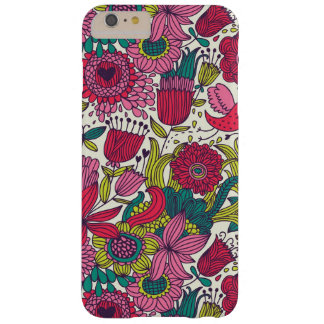 Bright floral pattern barely there iPhone 6 plus case