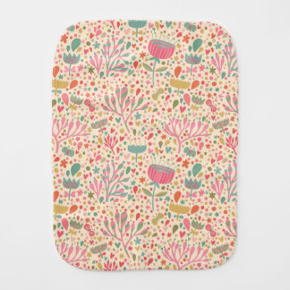 Bright floral pattern burp cloth