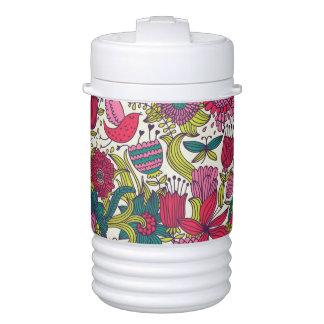 Bright floral pattern drinks cooler