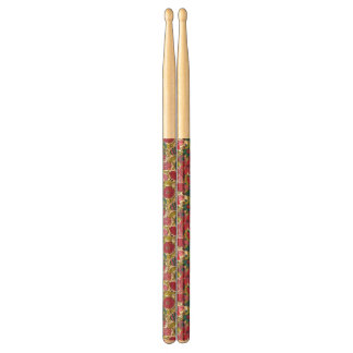 Bright floral pattern drumsticks
