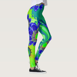 Bright Floral Pattern Leggings